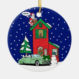 Convertible Gifts By Gear4gearheads Double-Sided Ceramic Round Christmas Ornament