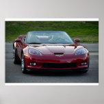 Convertible magnífico del deporte del Corvette C6 Poster