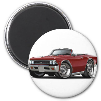 Convertible marrón 1966 de Chevelle Imán Redondo 5 Cm