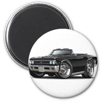 Convertible negro 1966 de Chevelle Imán Redondo 5 Cm