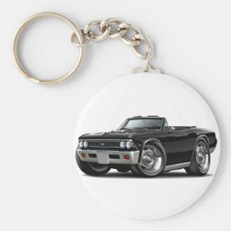 Convertible negro 1966 de Chevelle Llavero Redondo Tipo Pin