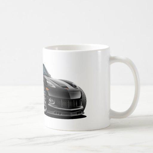 Convertible negro 2010-12 del Corvette Taza Básica Blanca