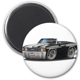 Convertible Negro-Blanco 1971-72 de Chevelle Imán Redondo 5 Cm
