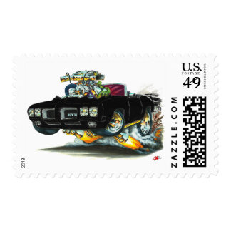 Convertible negro de 1970 GTO Sellos