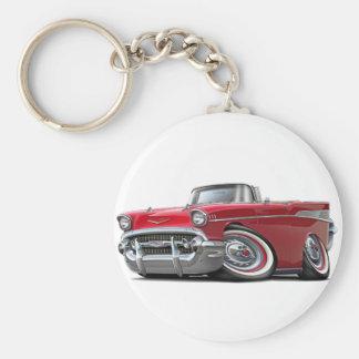 Convertible rojo 1957 de Chevy Belair Llavero