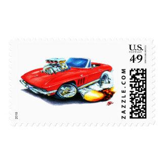 Convertible rojo 1965 del Corvette Sello