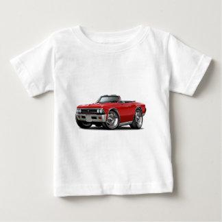 Convertible rojo 1966 de Chevelle Playera De Bebé