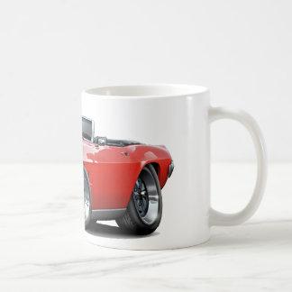 Convertible rojo 1969 de Firebird Tazas De Café