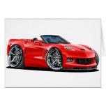 Convertible rojo 2010-12 del Corvette Felicitación
