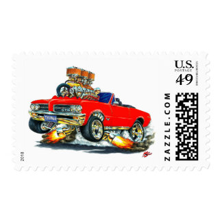 Convertible rojo de 1964 GTO Sellos Postales