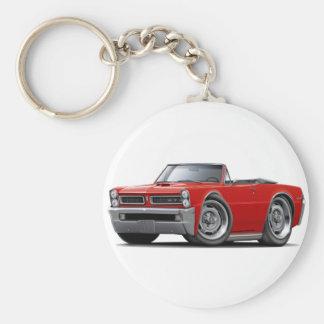 Convertible rojo de 1965 GTO Llavero Personalizado