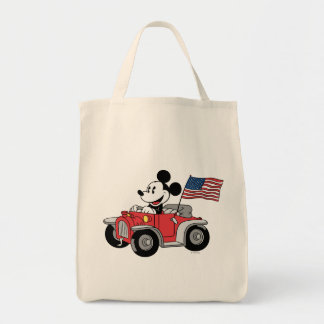 Convertible rojo de Mickey el | del día de fiesta