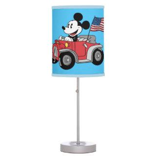 Convertible rojo de Mickey el | del día de fiesta Lámpara De Escritorio