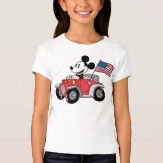 Convertible rojo de Mickey el | del día de fiesta Playera