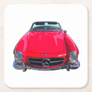 Convertible rojo del SL del Benz 300 de Mercedes Posavasos De Cartón Cuadrado