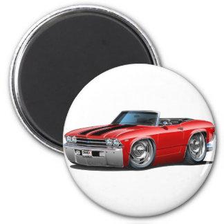 Convertible Rojo-Negro de 199 Chevelle Imán Redondo 5 Cm
