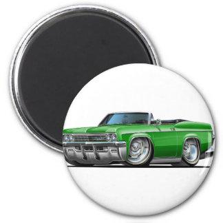 Convertible verde 1965-66 del impala imán redondo 5 cm