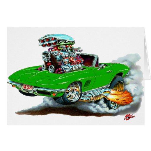 Convertible verde 1966-67 del Corvette Felicitación