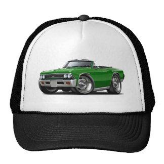 Convertible verde 1966 de Chevelle Gorros Bordados