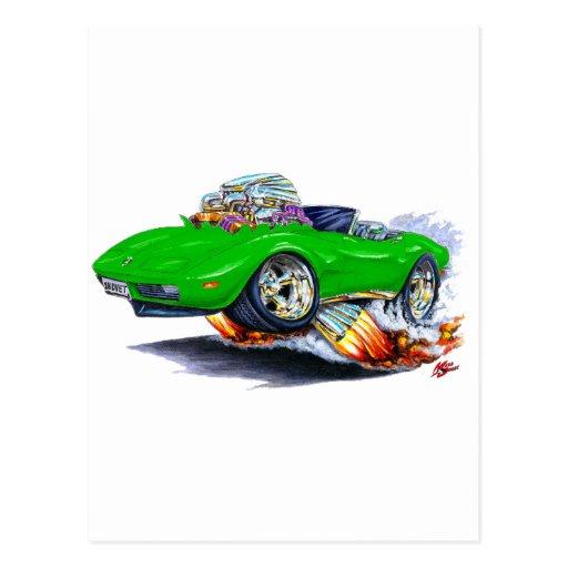 Convertible verde 1973-76 del Corvette Postal