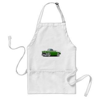 Convertible Verde-Blanco 1956 de Chevy Belair Delantal