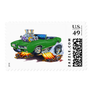 Convertible verde de 1969 GTO Timbre Postal