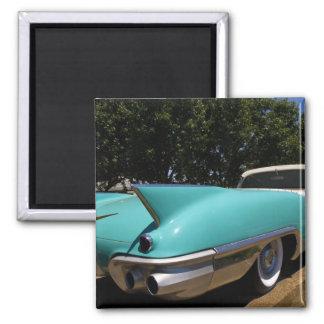 Convertible verde de Cadillac de Elvis Presley ade Imán Cuadrado
