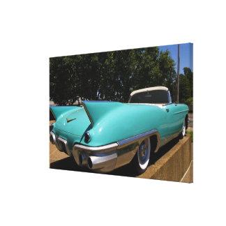 Convertible verde de Cadillac de Elvis Presley ade Lienzo Envuelto Para Galerias