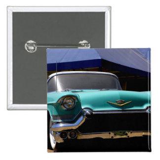 Convertible verde de Cadillac de Elvis Presley ade Pin Cuadrado
