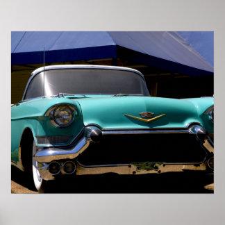 Convertible verde de Cadillac de Elvis Presley ade Póster