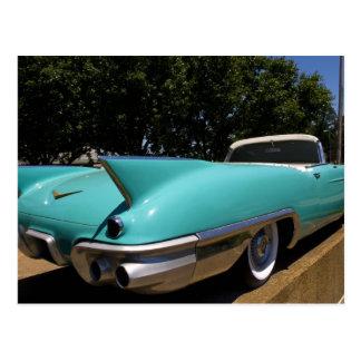 Convertible verde de Cadillac de Elvis Presley Postal