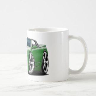 Convertible verde de Nissan 300ZX Tazas De Café