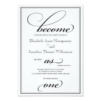 Convertido como una invitación cristiana del boda