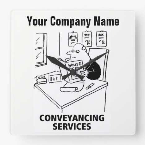 Conveyancing Services Cartoon Clock