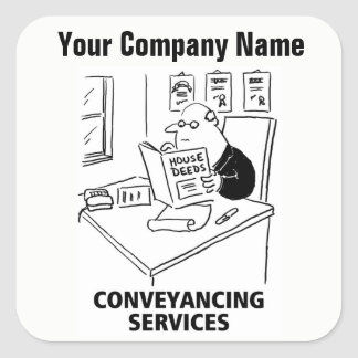 Conveyancing Services Cartoon Stickers