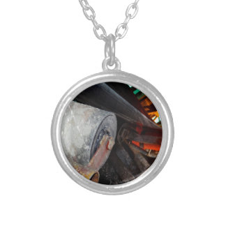 Conveyor and mining gifts 12 round pendant necklace