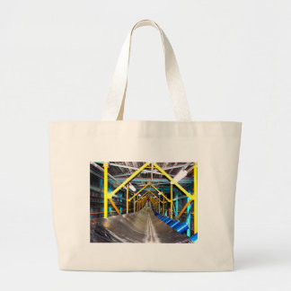 Conveyor and mining gifts 3 large tote bag
