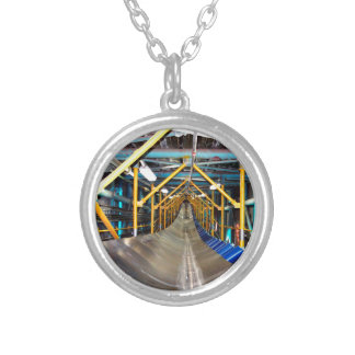 Conveyor and mining gifts 3 round pendant necklace