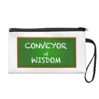 Conveyor of Wisdom Teacher Gift Wristlet
