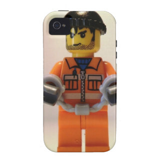 Convict Prisoner Custom Minifigure with Handcuffs iPhone 4/4S Covers