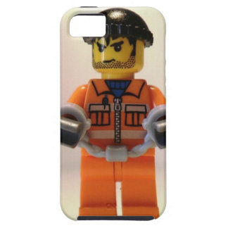 Convict Prisoner Custom Minifigure with Handcuffs iPhone SE/5/5s Case