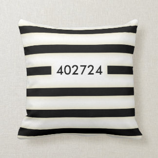convict stained uniform throw pillow