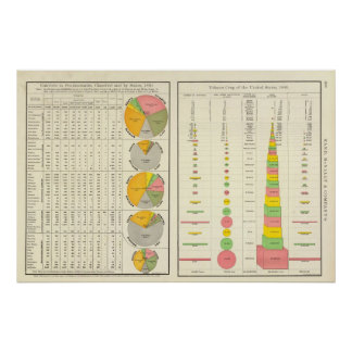 Convicts in Penitentiaries by State Poster