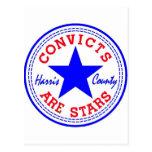 Convicts (Retro) Blue Postcard