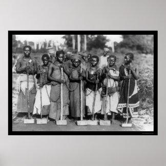 Convicts Tanganyika 1895 de las mujeres Impresiones