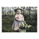 Convite Criança com flores
