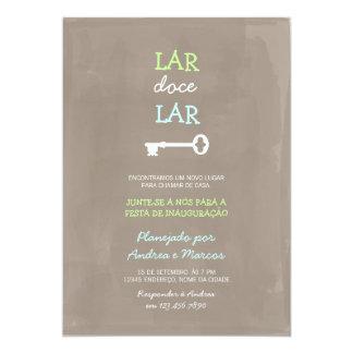 Convite festa de inauguração bonito card