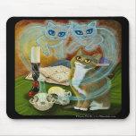 Convocar a viejos amigos, arte Mousepad del gato d Tapete De Raton
