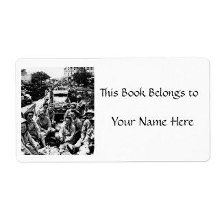 Convoy de las enfermeras WWII Etiquetas De Envío