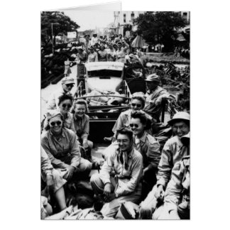 Convoy of Nurses WWII Greeting Card
